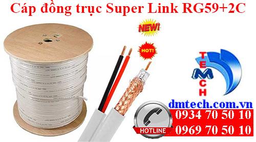 Cáp đồng trục Super Link RG59+2C