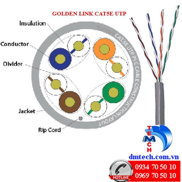 cau tao cat5e UTP golden link