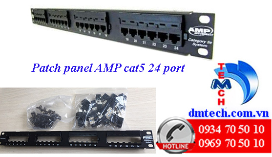 Patch-panel-AMP-cat5-24port