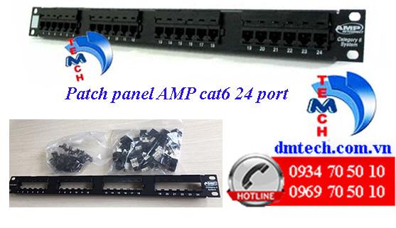 patch panel amp cat6 24 port