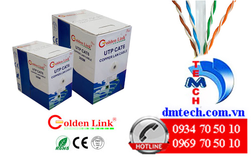 cáp mạng golden link cat6 utp plus