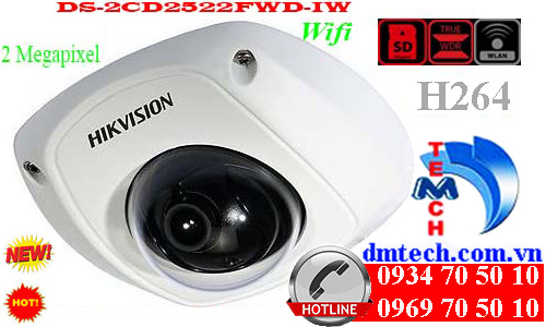 camera ip dome hong ngoai DS-2CD2522FWD-IW