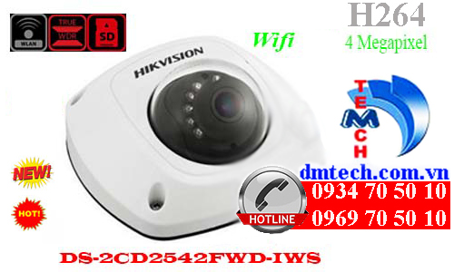 camera ip dome hong ngoai DS-2CD2542FWD-IWS