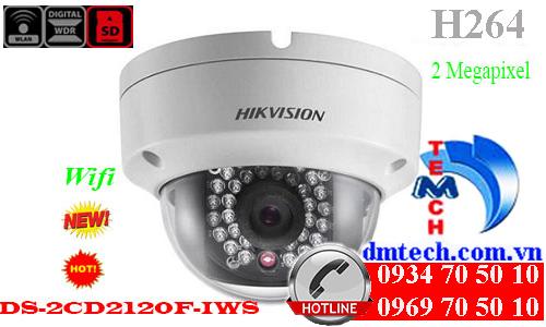 camera ip dome hong ngoai DS-2CD2120F-IWS
