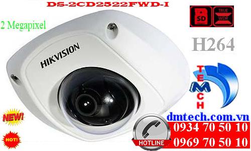 camera ip dome hong ngoai DS-2CD2522FWD-I