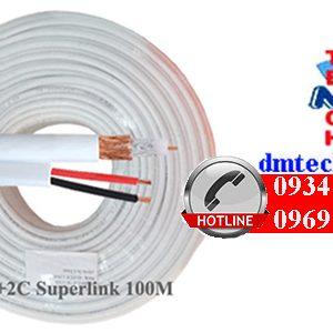 Cáp đồng trục Super Link RG59+2C không dầu-100M