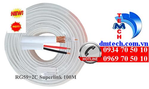 cáp đồng trục Super Link RG59+2C 100M