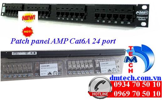 patch panel amp cat6a 24 port